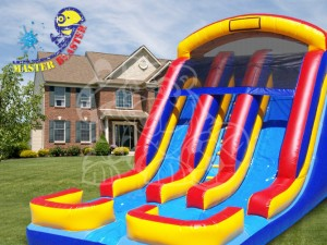 Inflatable Bounce House With Waterslide