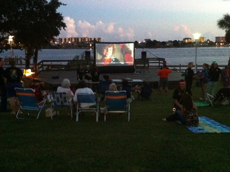 outdoor movie screen movie screen rentals fort